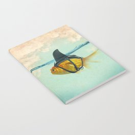 Brilliant DISGUISE - Goldfish with a Shark Fin Notebook