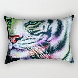 Rainbow Tiger Rectangular Pillow