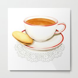 Cup of Tea and a biscuit Metal Print