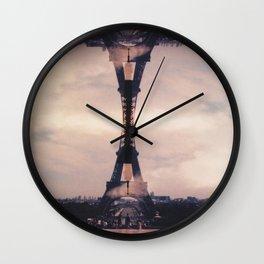 Dueling Eiffel Towers // Paris Wall Clock