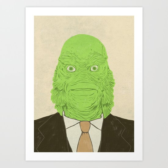 Young Professional from the Black Lagoon Art Print