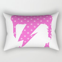 Rock art / pink star zi Rectangular Pillow