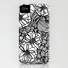 wavy inked floral iPhone (4, 4s) Slim Case