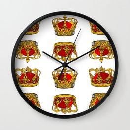 My crown is in my heart Wall Clock