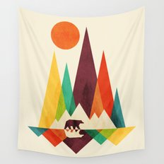 Bear In Whimsical Wild Wall Tapestry