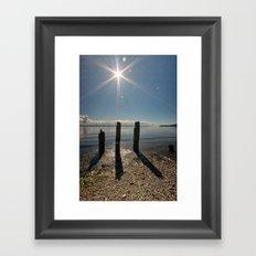 Three Pilings Standing Framed Art Print