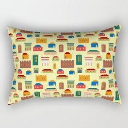 Jerusalem village-city pattern Rectangular Pillow