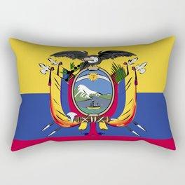 Ecuador flag emblem Rectangular Pillow