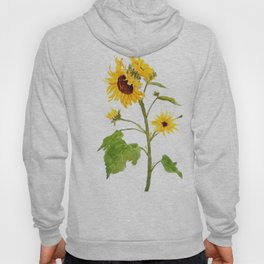 One sunflower watercolor arts Hoody