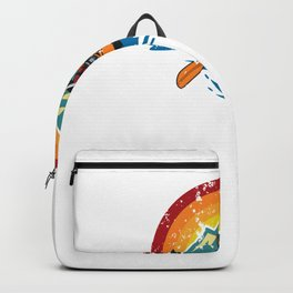 River Water Heals Everything - Kayak - Great Gift for River Lovers - Multi Color Logo & White Lettering - Distressed Look Backpack