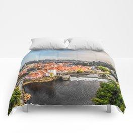 Cesky Krumlov Panoramic view Comforters