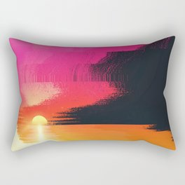 digital beachhead Rectangular Pillow