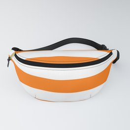 Living Coral and White Wide Horizontal Cabana Tent Stripe Fanny Pack