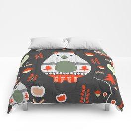 Christmas bears and birds Comforters