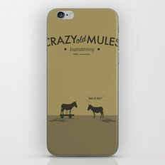 Crazy old Mule / Mule of Troy iPhone & iPod Skin