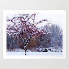 White Christmas Day Art Print