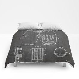 Football Pants Patent - Football Art - Black Chalkboard Comforters