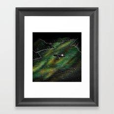 The Space Ship Framed Art Print