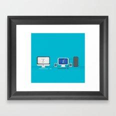 Apple iMac + PC Framed Art Print