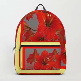 YELLOW COLOR RED AMARYLLIS FLOWER GARDEN  FLOWERS Backpack