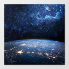 Earth and Galaxy Canvas Print