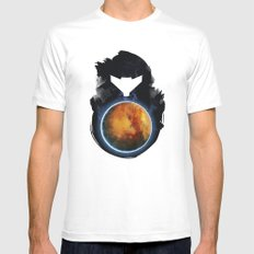 Metroid Prime LARGE White Mens Fitted Tee