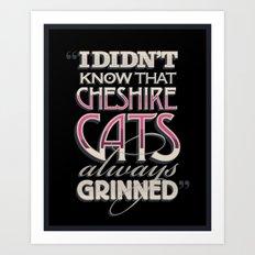 Cheshire Cats Art Print