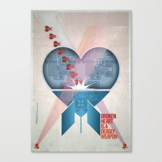 Broken Heart Is A Deadly Weapon Canvas Print