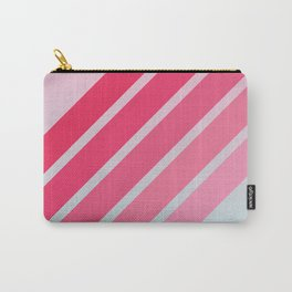 Pink Hip Retro Stripes Carry-All Pouch