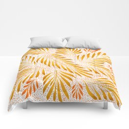 Pumpkin Spice Leaves Comforters