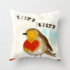 Tjirp Tjirp Throw Pillow