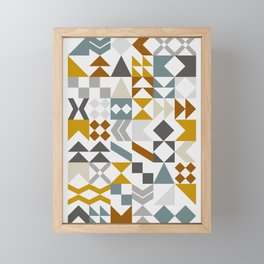 Mid West Geometric 05 Framed Mini Art Print