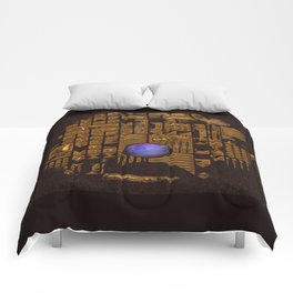 GOLD RUINS WITH GEM Comforters