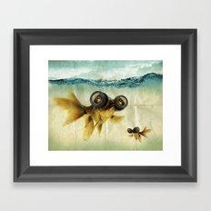 Fish eye lens 02 Framed Art Print