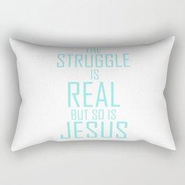 Jesus is Real Christian Rectangular Pillow