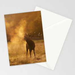 Red Deer Stag at Dawn Stationery Cards
