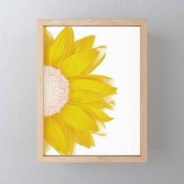 portrait of summer - yellow white Framed Mini Art Print