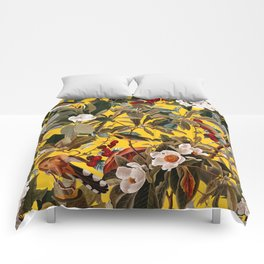 Floral and Birds XXVII-I Comforters
