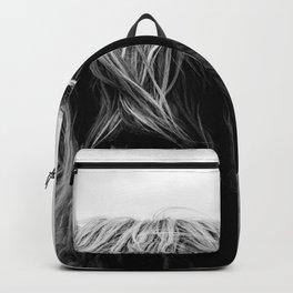 Scottish Highland Cattle Black and White Animal Backpack