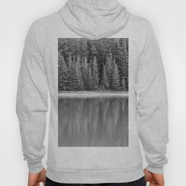 Forest Across the Lake (Black and White) Hoody