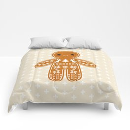SWEATER PATTERN GINGERBREAD COOKIE Comforters