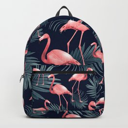 Summer Flamingo Palm Night Vibes #1 #tropical #decor #art #society6 Backpack