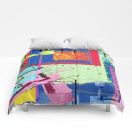 Superfly Muses No. 3 Contemporary Abstract Retro Comforters