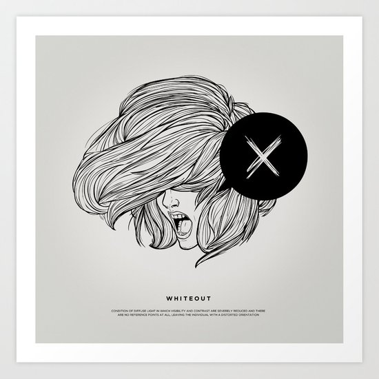 STV - Whiteout Art Print