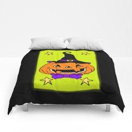 Vintage Halloween Jack O Lantern Comforters