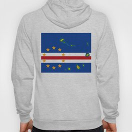 Cape Verde Flag with Map of the Cape Verde Islands Hoody