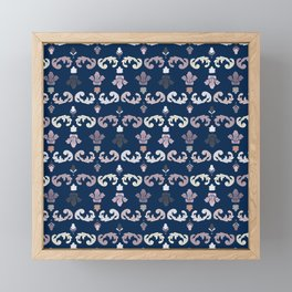 Flower Royal Framed Mini Art Print