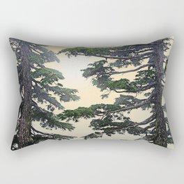 MOUNTAIN HEMLOCK IN BREAKING CLOUDS Rectangular Pillow
