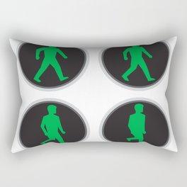 Traffic Light Man Walk Cycle Sequence Rectangular Pillow
