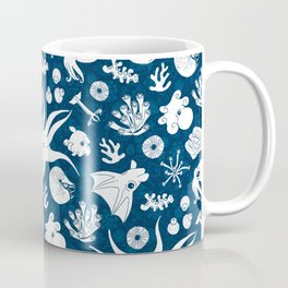 Cephalopods: Background Blue Coffee Mug